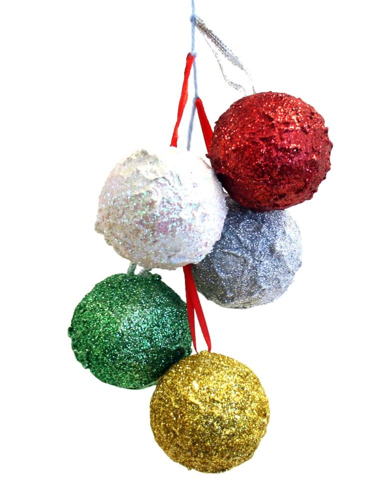 Julekuler med strukturpasta og glitter