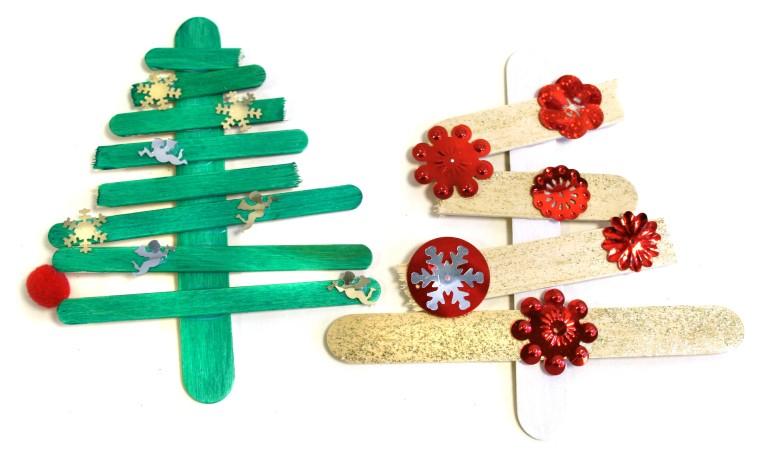 Juletrær av ispinner