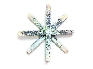 Snøkrystall med glitter